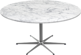 Table series Pedestal Base, Circular table  with marble table top