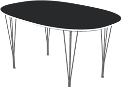 Table series Spanlegs, B611, Super-elliptical