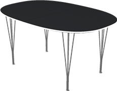Table series Extension Tables, B618, Extension table, super-elliptical