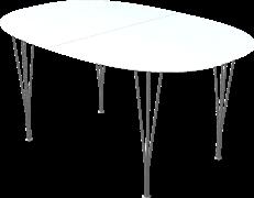 Table series Extension Tables, White, Laminate, Aluminum