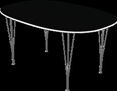 Table series Extension Tables, Black, Linoleum, Aluminum