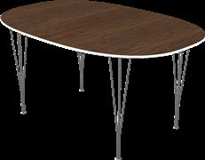 Table series Extension Tables, Walnut, Veneer, Aluminum