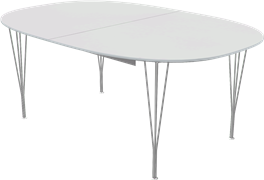 Table series Extension Tables, White, Aluminum, Chromed Steel