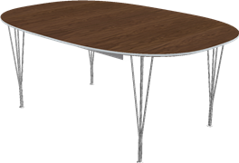 Table series Extension Tables, Aluminum, Walnut, Veneer