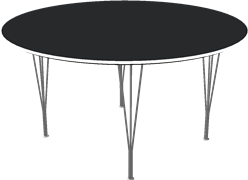 Table series Spanlegs, Black, Laminate, Aluminum