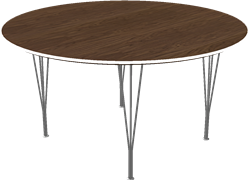 Table series Spanlegs, Walnut, Veneer, Aluminum