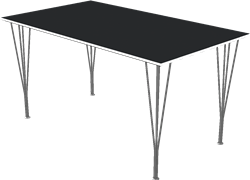 Table series Spanlegs, B637, Rectangular