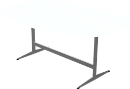 Tischserie Shakergestell, Weiß, Laminate, Aluminium