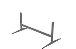 Table series Shaker Base, White, Laminate, Aluminum