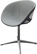 Rin™, HK10, Swivel chair, front upholstered