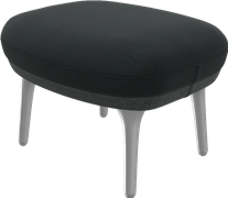 Ro™ footstool, JH11, Foot stool, brushed aluminum legs, designer selections