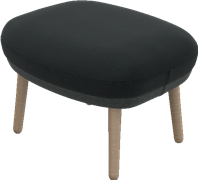 Ro™ footstool, JH12, Ro footstool, wooden legs, Designer Selections