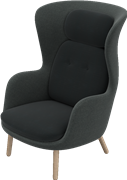 Ro™, JH2, Ro lounge chair, wooden base, Designer Selections