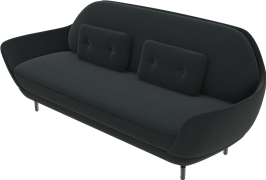 Favn™, JH3, 3-seater, Single Fabric/Leather