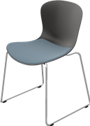 NAP™, KS51, Chair w/sled base, stackable, seat upholstery