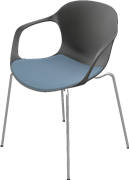 NAP™, KS60, Armchair, stackable, Seat upholstery