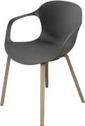 NAP™, KS62, armchair, wooden base