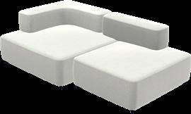 Alphabet Sofa™, PL210-3, 2-seat sofa