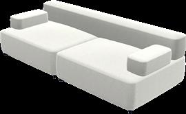 Alphabet Sofa™, PL240-1, 2-seat sofa