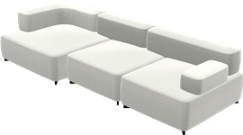 Alphabet Sofa™, Light Grey Divina Melange, Divina Melange