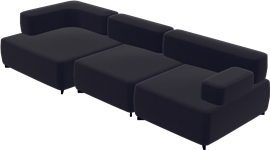 Alphabet Sofa™, Black, Hallingdal