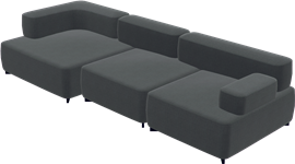 Alphabet Sofa™, Dark Grey, Remix