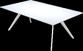 T-NO. 1™, Weiß, unterlackiertes Glas, Weiß lackiertes Aluminium, T-No. 1 Base