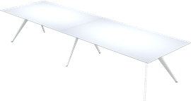 T-NO. 1™, White, Glass Lacquered Underside, White Powder Coated, T-No. 1 Base