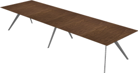 T-NO. 1™, Walnut, Veneer, Polished Aluminum, T-No. 1 Base